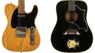 Stevie Ray Vaughan's Fender Broadcaster, Elvis's Gibson Dove and Kurt Cobain's Univox guitars up for auction
