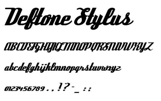 Retro fonts: Deftone