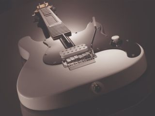Moody Logitech Wireless Wii Guitar - moody not included