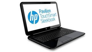 HP's Pavilion Touchsmart Sleekbook comes with a touchscreen, surprisingly