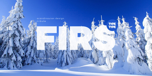 Font of the day: Firs