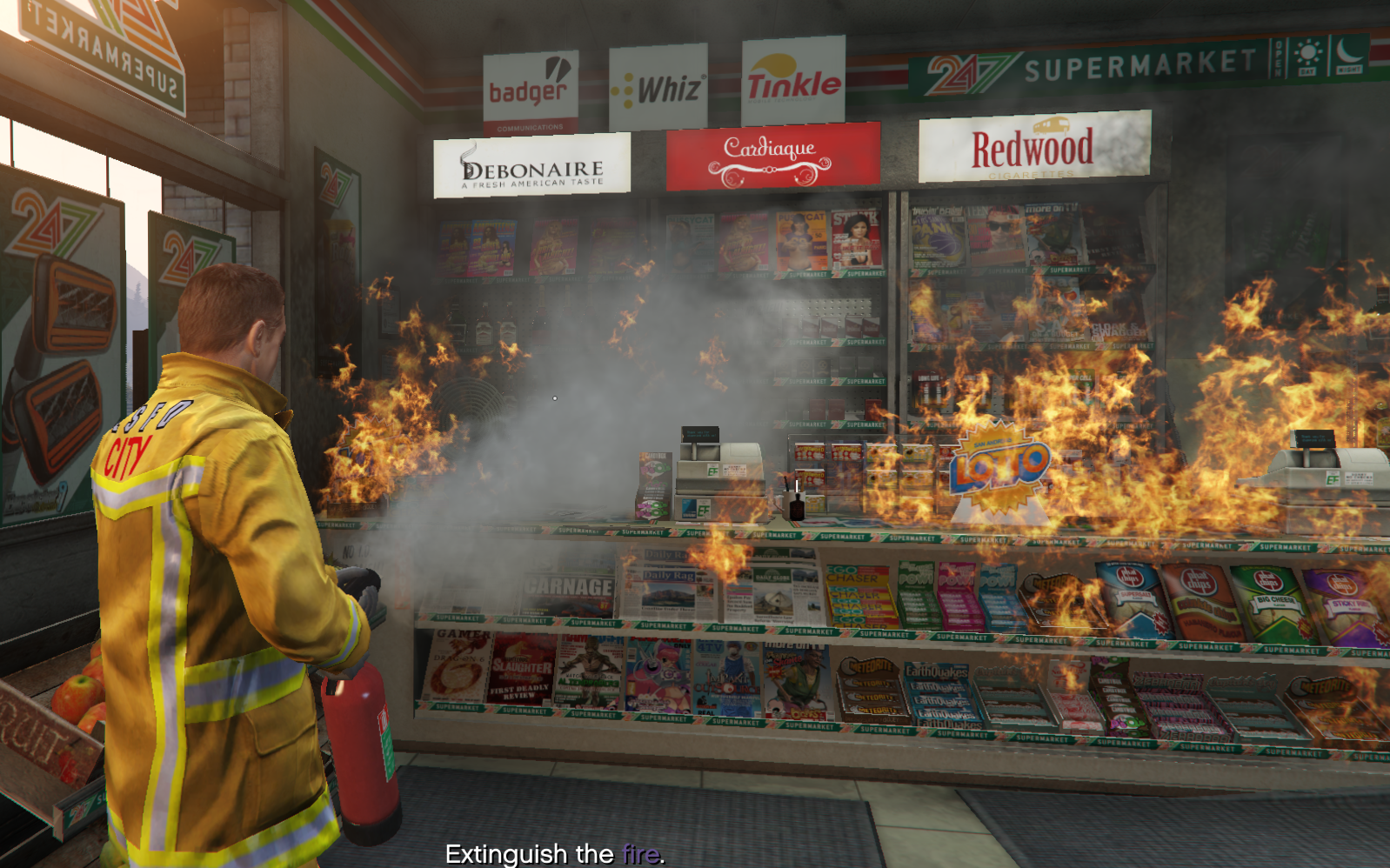 Quell blazes and practice CPR with the GTA 5 Firefighter mod