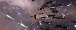 EVE Online Retribution fleet action