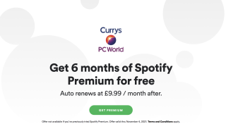 Get 6 months of Spotify Premium for free with a qualifying product at Currys