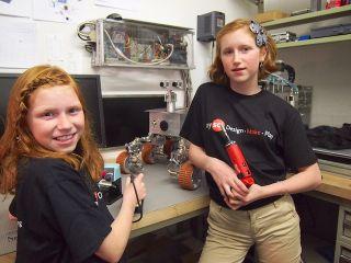 Lunamoth and Julajay in the Beatty Robotics Lab