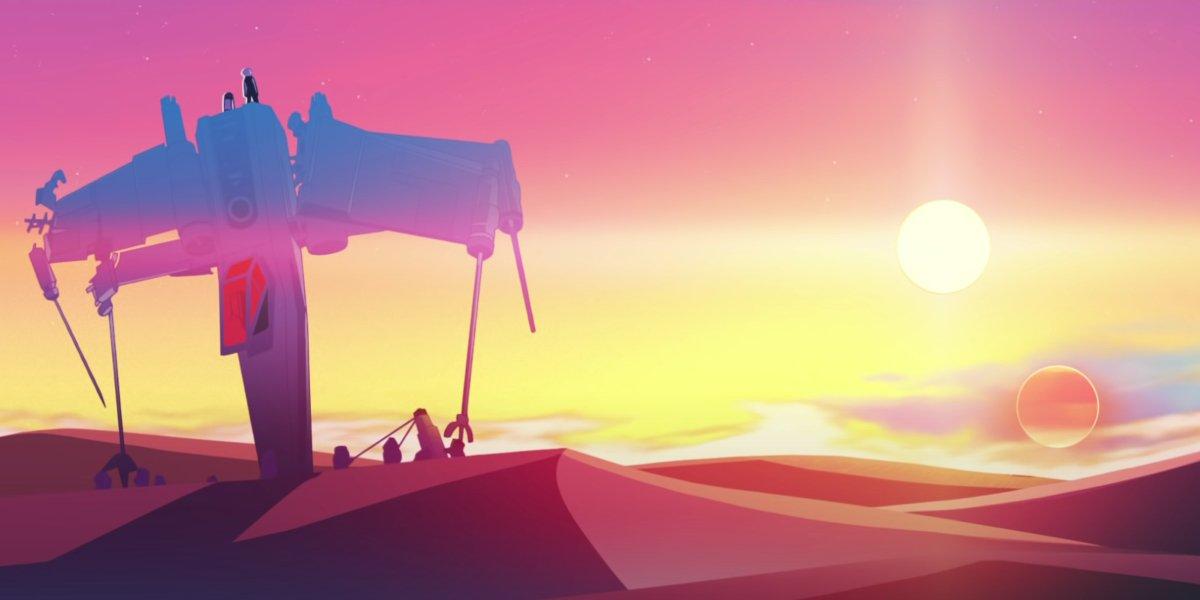 A still from Star Wars: Visions