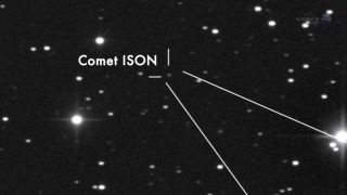 Comet ISON in Telescope View