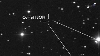 Comet ISON in Telescope View