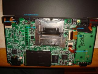 The gizzards of a Nintendo DSi - don't try this at home kids!