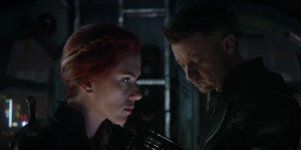 Widow and Hawkeye in Endgame