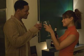 Will Smith and Eva Mendes share a toast