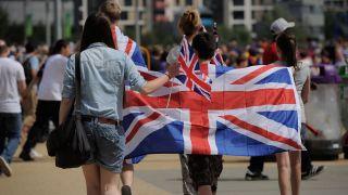 Boy with UK flag