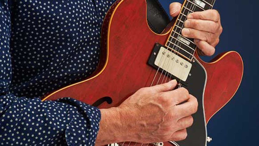 How to play a two-hand tapping riff with our bite-sized guitar lesson