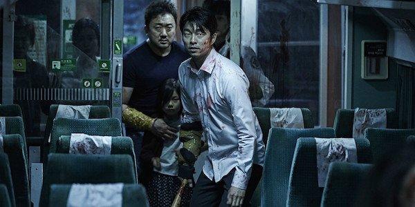 Train to Busan zombies in train car