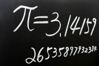 Pi, the mathmatical constant, is a never-ending irrational number.