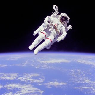 Astronaut Bruce McCandless II Tests MMU