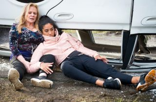 Yashvi Rebecchi and Sheila Canning in Neighbours.