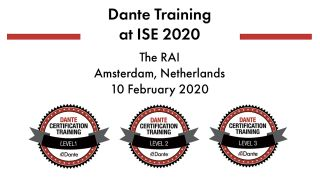 Audinate is offering free Dante Certification Training to ISE 2020 attendees through coursework that focuses on insights for using Dante in real-world AV-over-IP integrations.
