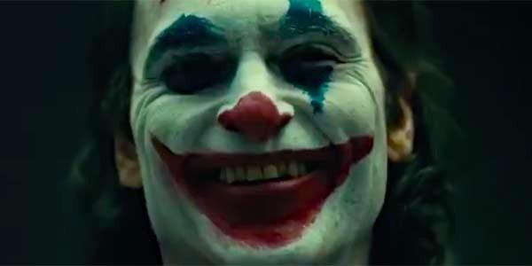 Joaquin Phoenix's Joker cracking a smile