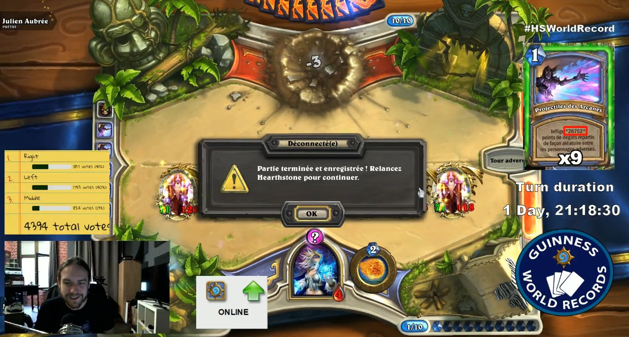 The longest ever Hearthstone turn finally ends after 45