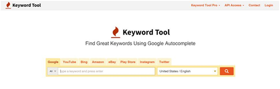 Keywordtool.io is also a helpful platform for researching
