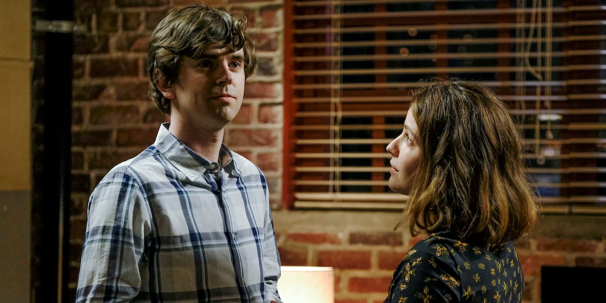 Freddie Highmore and Paige Spara in The Good Doctor.