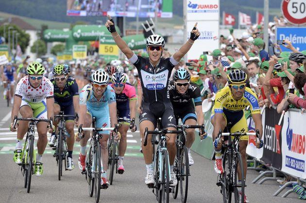 Matteo Trentin wins stage six of the 2014 Tour de Suisse