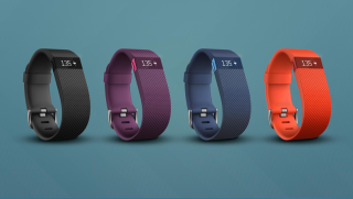 The Fitbit Charge tracker.