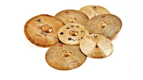 All the cymbals here are made up of B20 cast bronze, 80% copper, 20% tin and are hand-hammered