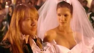 Axl Rose and his then-girlfriend Stephanie Seymour in the November Rain video
