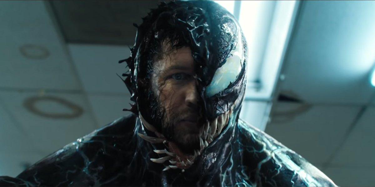 Venom revealing the Eddie Brock beneath