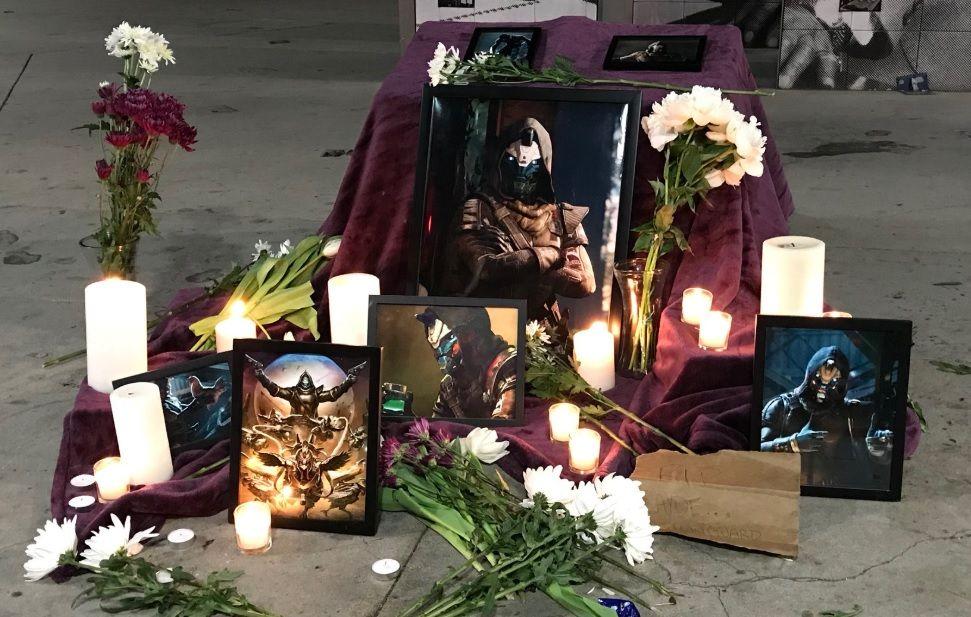 Destiny fans built a shrine to Cayde-6 at E3