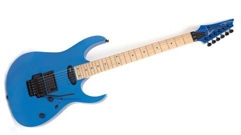 The RG3XXV looks awesome, with a neat reverse headstock allied to the absence of a pickguard and a maple fretboard