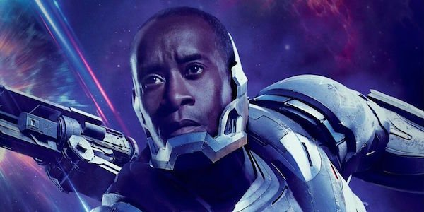 Don Cheadle as War Machine in Avengers: Endgame