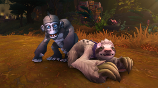 World of Warcraft charity pets 2021, a monkey and sloth