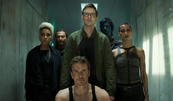 Dark Phoenix Magneto and some X-Men looking at the camera with scowls