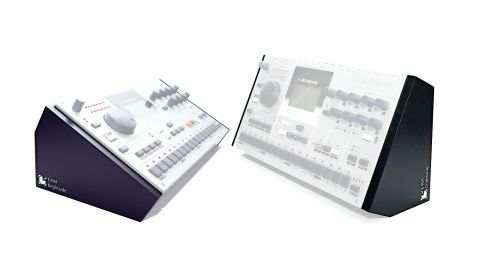 The stands offer two different angles for using your Elektron unit