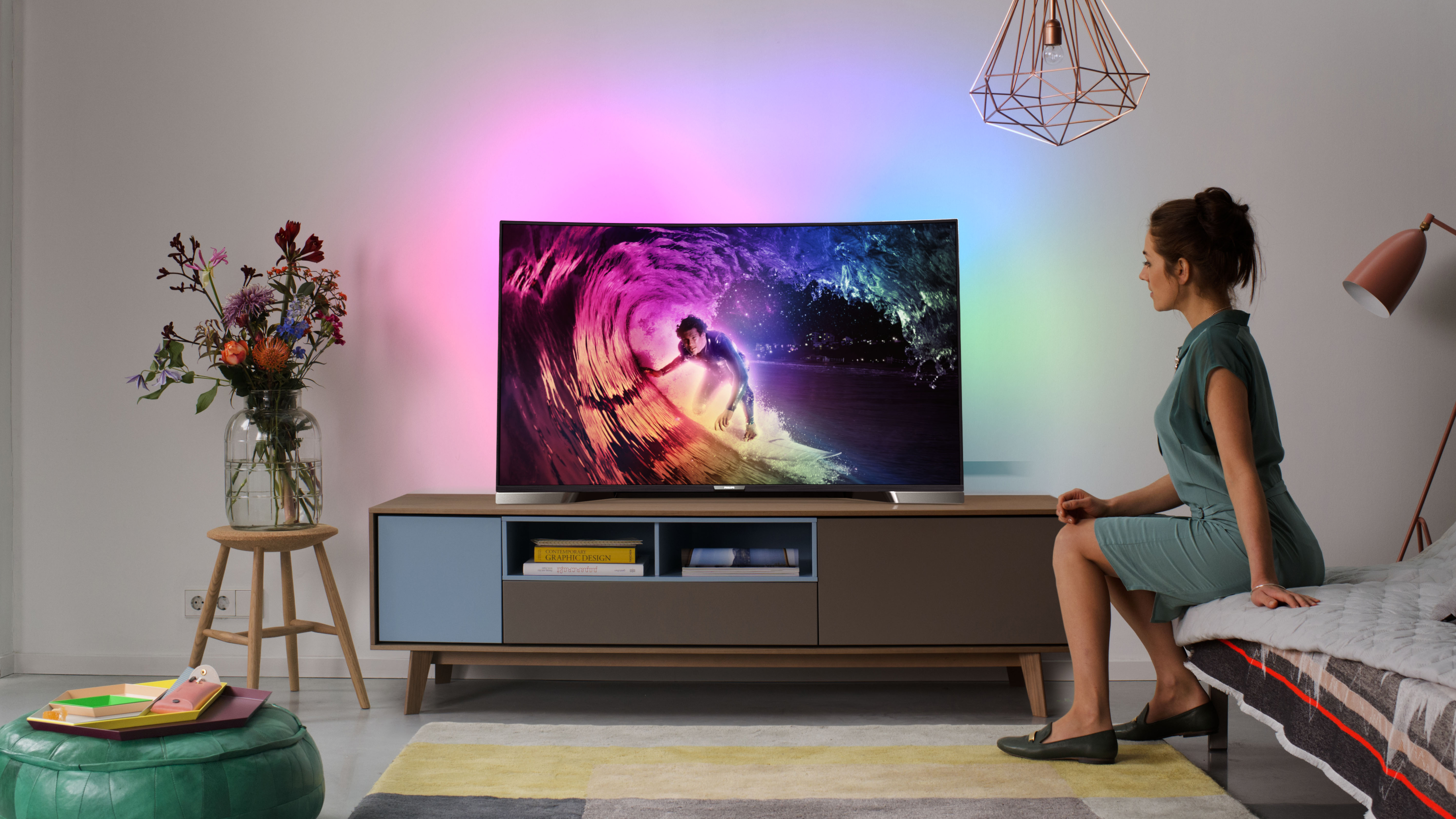 The first ever Philips curved 4K TV is a bendy 55-inch beast | TechRadar
