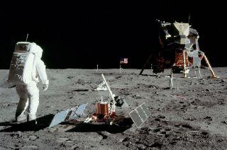 white house apollo moon landing site