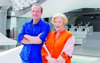 Caroline Quentin and Piers Taylor's enjoyable (for us and them) tour continues with four incredible coastal homes.