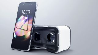 The box for Alcatel's new smartphone is actually a VR headset