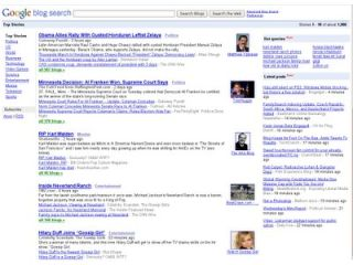 Search blogs easier with Google
