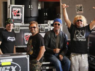 Satch, Michael Anthony, Chad Smith and Sammy Hagar get ready to unleash their second LP