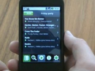 Android shown off on Spotify