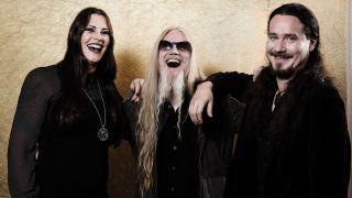 Part of the Nightwish powerhouse, L-R: Floor Jansen, Marco Hietala, Tuomas Holopainen