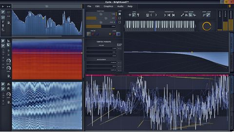 The waveform display also serves as a work area in which to alter and adjust the waveform
