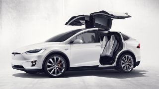 Tesla Model X with doors open
