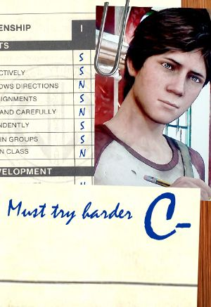 Video game characters' school report cards