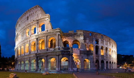 Famous buildings: The Colosseum in Rome
