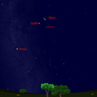 Sky Map Jupiter Moon Venus